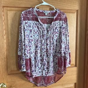 Lucky Brand blouse long sleeve size medium